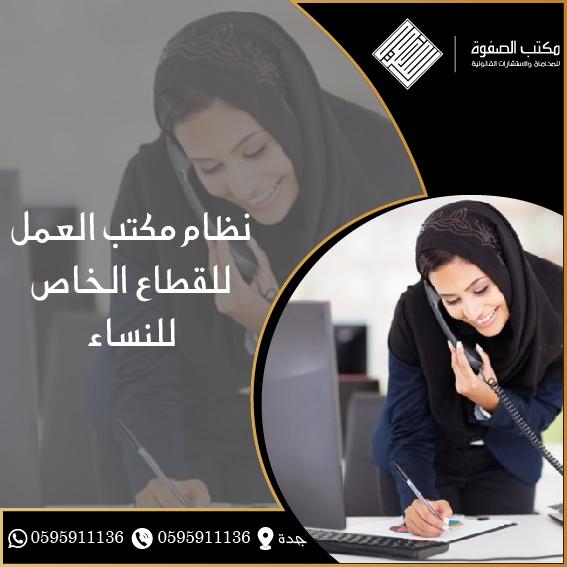 نظام مكتب العمل للقطاع الخاص للنساء